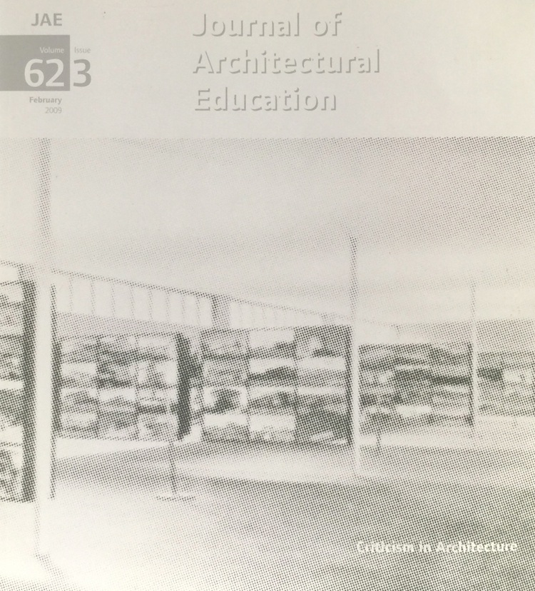 Journal Architectural Education: Volume 62 Issue 3 February 2009. GEORGE DODDS.