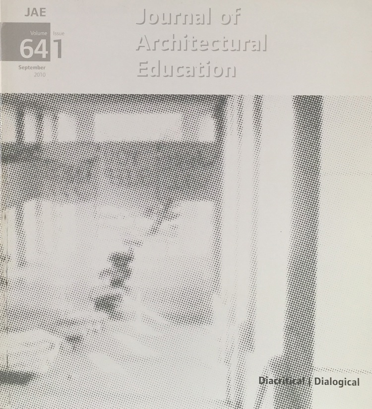 Journal Architectural Education: Volume 64 Issue 1 September 2010. GEORGE DODDS.