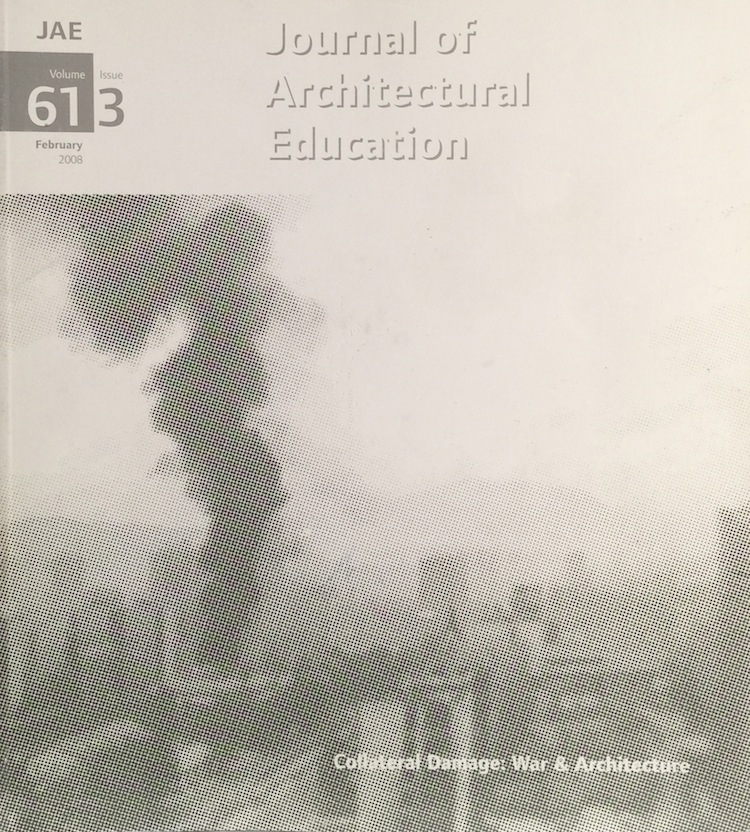 Journal Architectural Education: Volume 61 Issue 3 February 2008. GEORGE DODDS.