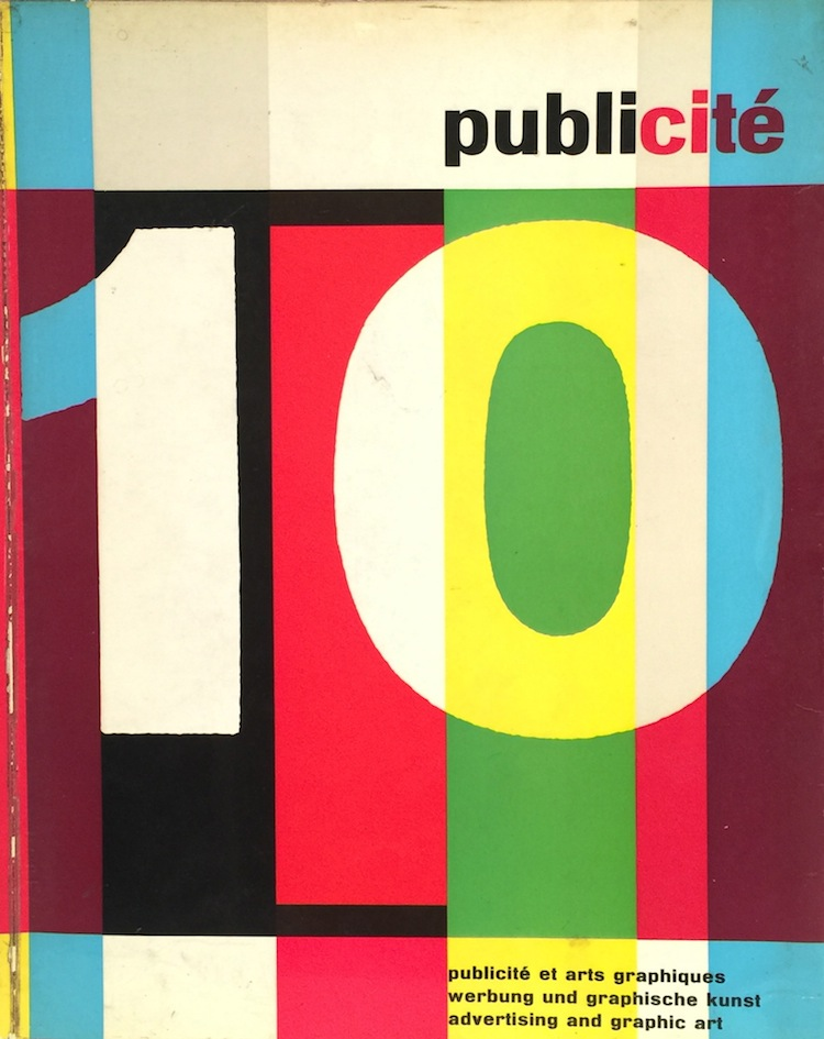 Publicite 10: Review of Graphic Art and Advertising in Switzerland. MAURICE Edit COLLET.
