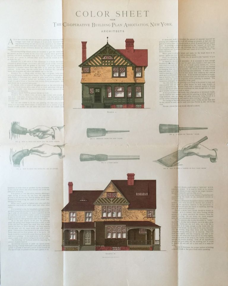 Color Sheet from the Co-Operative Building Plan Association, Architects. ROBERT W. SHOPPELL.