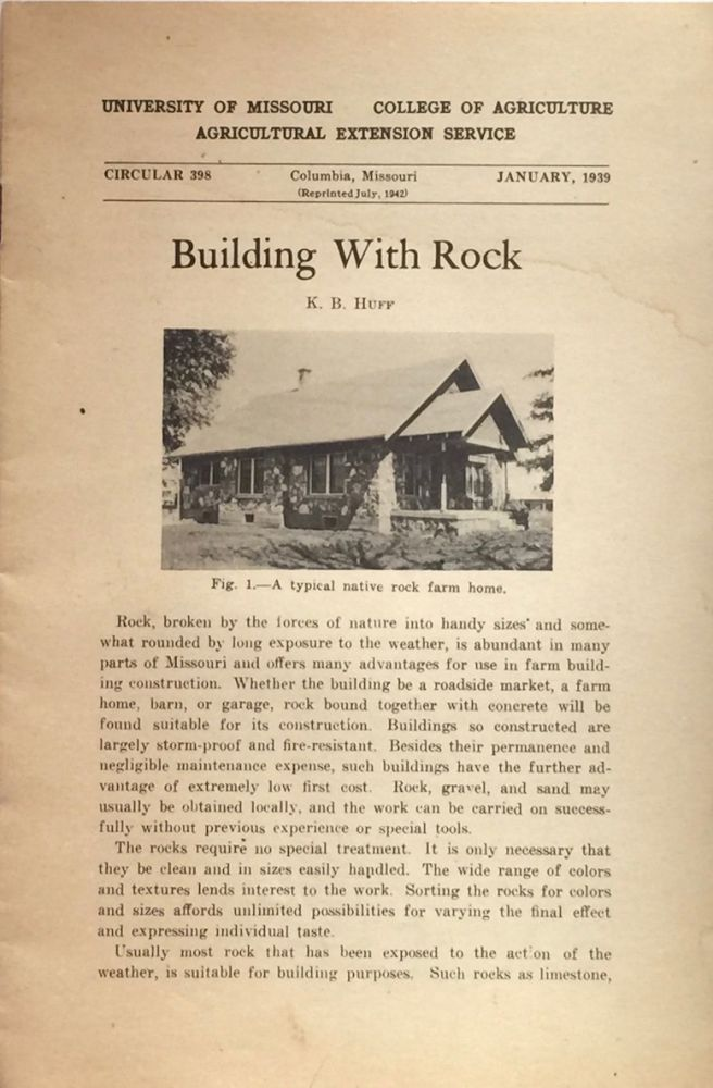 Building with Rock. K. B. HUFF.