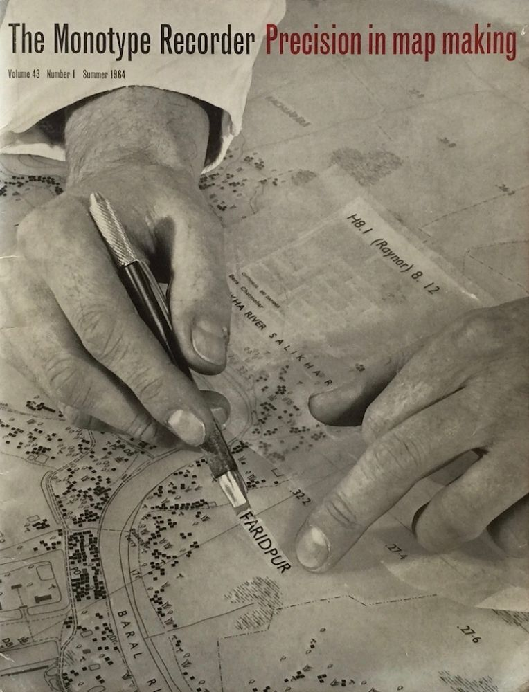 The Monotype Recorder: Precision in Map Making. MONOTYPE CORPORATION.