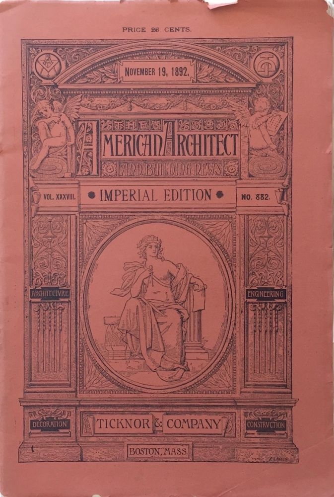 The American Architect and Building News: Imperial Edition, November 19, 1892. ALBERT KAHN.