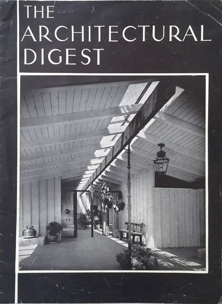 The Architectural Digest: Summer 1960. CLIFF MAY, JOHN BRASFIELD.