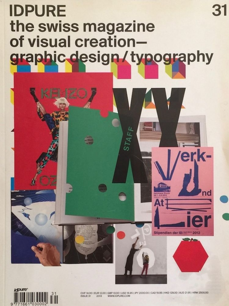 IDPURE the Swiss Magazine of Visual Creation---Graphic Design / Typography No. 31 2013. THIERRY HAUSERMANN.