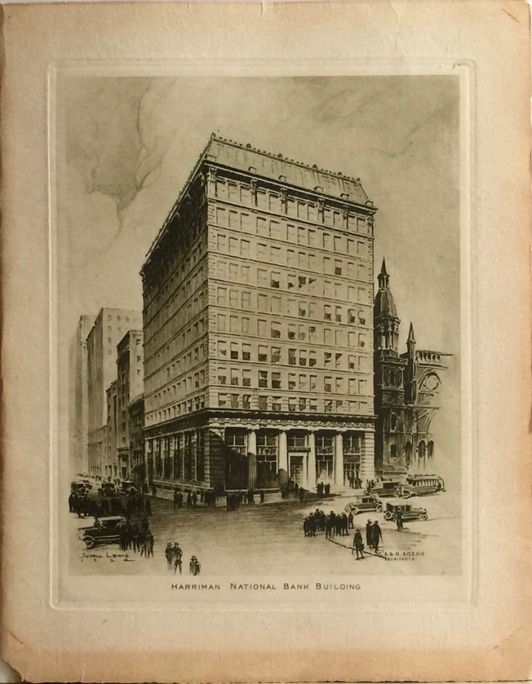 The New and Enlarged Harriman National Bank Building Fifth Avenue and 44th Street New York. HARRIMAN NATIONAL BANK.
