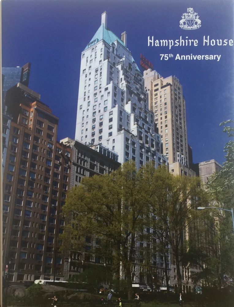 Hampshire House: 150 Central Park South, NYC. ANTHONY ROBINS.