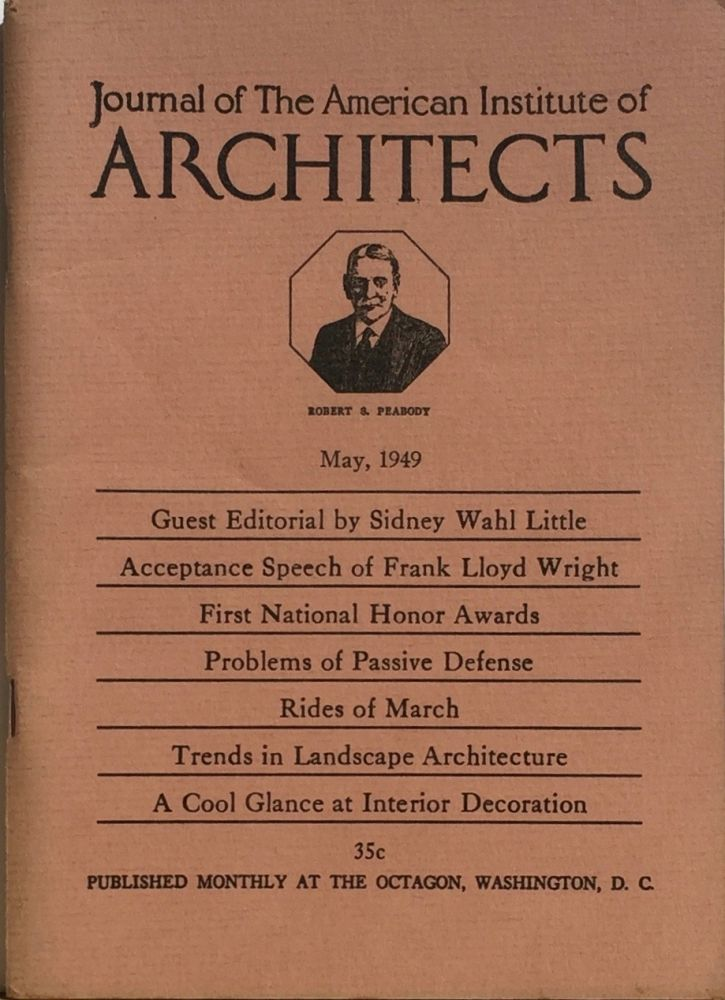 Journal of the American Institute of Architects May 1949. HENRY SAYLOR.