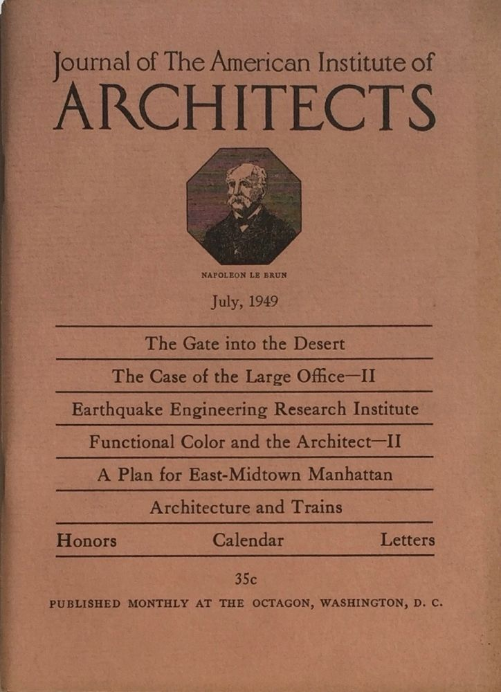 Journal of the American Institute of Architects July 1949. HENRY H. SAYLOR.