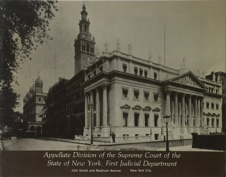 Appellate Division of the Supreme Court of the State of New York, First Judicial Department: 25th St and Madison Ave. ANONYMOUS.
