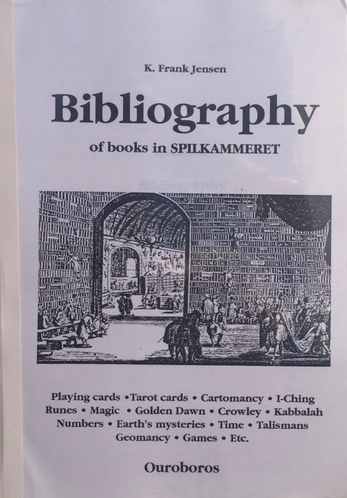 Bibliography of Books in SPILKAMMERET. K. FRANK JENSEN.