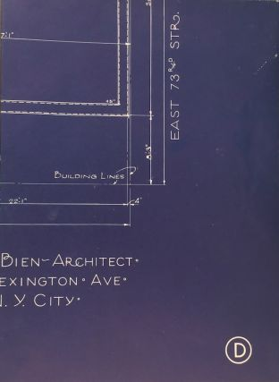 Promotional Faux Blueprints for Apartment Building at Madison Ave. & East Seventy Third Street....