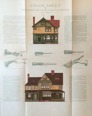 Color Sheet from the Co-Operative Building Plan Association, Architects. ROBERT W. SHOPPELL