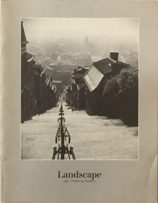 Landscape Vol. 25 No. 1 1981. BLAIR M. BOYD