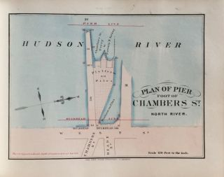 The Wharves, Piers and Slips, Belonging to the Corporation of the City of New York 1868: North River