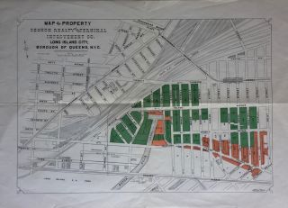 Map of Property Degnon Realty and Terminal Improvement Co. Long Island City, Borough of Queens,...