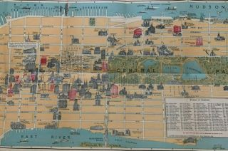 Pictorial Map of New York City: Illustrating in Graphic Manner the Points of Interest (etc.)