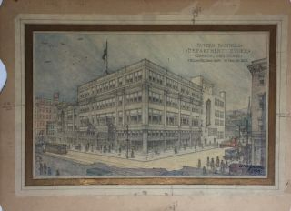 Architect's Rendering for Burden Brothers Department Store. ARCH BURDEN BROS. / WILLIAM NEIL SMITH