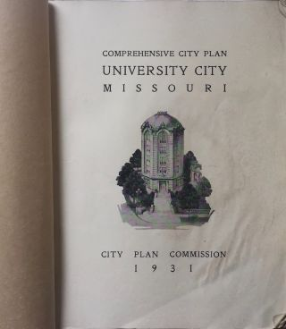 Comprehensive City Plan University City Missouri. BARTHOLOMEW, ASSOC