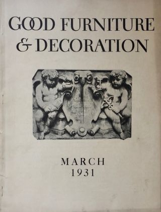 Good Furniture & Decoration March 1931